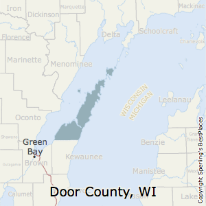 Door,Wisconsin County Map