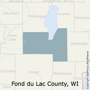 Fond_du_Lac,Wisconsin County Map
