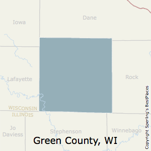 Green,Wisconsin County Map