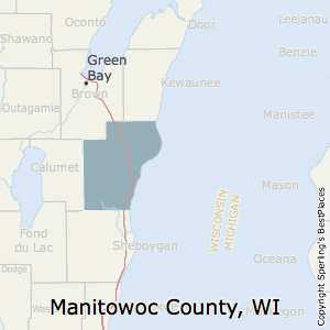 Manitowoc,Wisconsin County Map