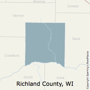Richland,Wisconsin County Map