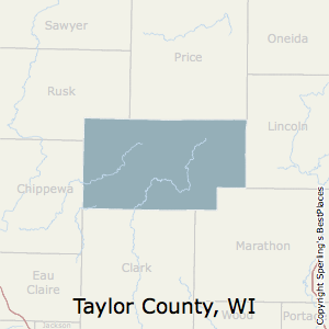 Taylor,Wisconsin County Map