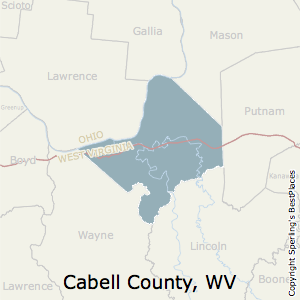Cabell,West Virginia County Map