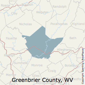 Greenbrier,West Virginia County Map
