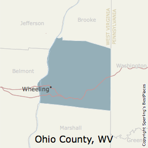 Map Of Ohio West Virginia And Pennsylvania.Best Places To Live In Ohio County West Virginia