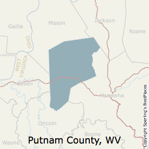 Putnam,West Virginia County Map