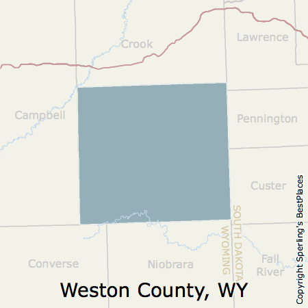 Best Places To Live In Weston County Wyoming - Wyoming county map