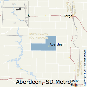 Aberdeen,South Dakota Metro Area Map