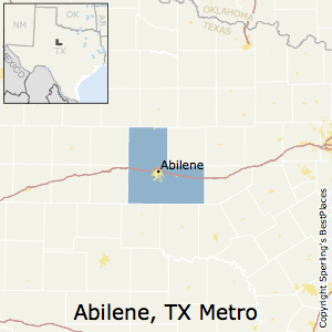 Abilene,Texas Metro Area Map