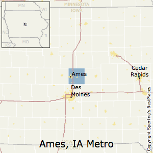 Ames,Iowa Metro Area Map