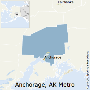 Anchorage,Alaska Metro Area Map