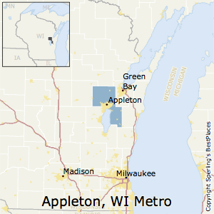 Appleton,Wisconsin Metro Area Map