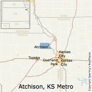 Atchison,Kansas Metro Area Map