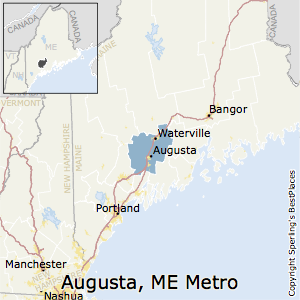 Augusta-Waterville,Maine Metro Area Map