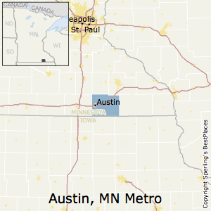 Austin,Minnesota Metro Area Map