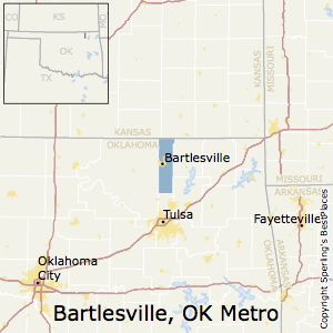 Bartlesville,Oklahoma Metro Area Map