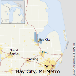 Bay_City,Michigan Metro Area Map