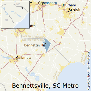Bennettsville,South Carolina Metro Area Map