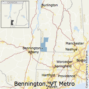 Bennington,Vermont Metro Area Map