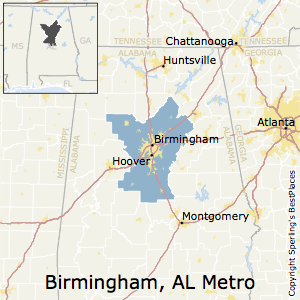 Birmingham-Hoover,Alabama Metro Area Map
