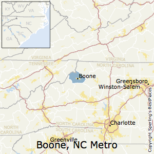 Boone,North Carolina Metro Area Map