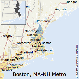 Boston-Cambridge-Newton,Massachusetts Metro Area Map