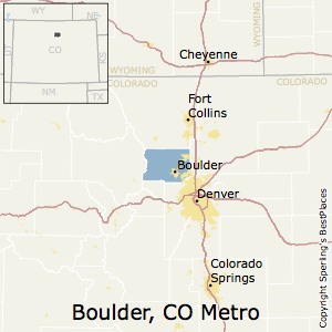 Boulder,Colorado Metro Area Map