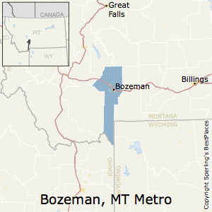 Bozeman,Montana Metro Area Map