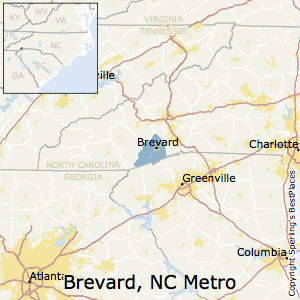 Brevard,North Carolina Metro Area Map