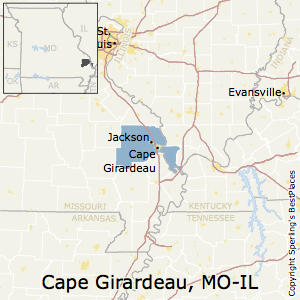 Cape_Girardeau,Missouri Metro Area Map