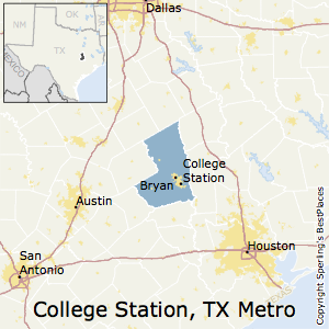 College_Station-Bryan,Texas Metro Area Map
