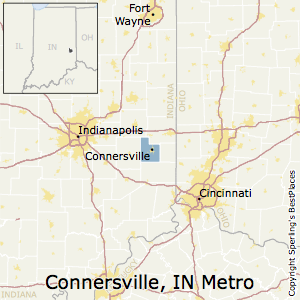 Connersville,Indiana Metro Area Map