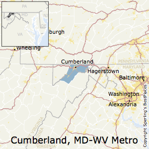 Cumberland,Maryland Metro Area Map