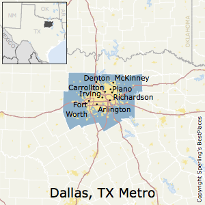 Best Places to Live in DallasFort WorthArlington Metro Area Texas
