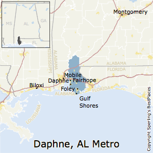 Daphne-Fairhope-Foley,Alabama Metro Area Map