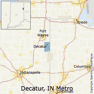 Decatur,Indiana Metro Area Map