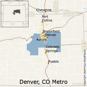 Denver-Aurora-Lakewood,Colorado Metro Area Map