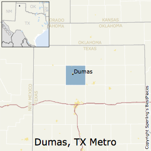 Dumas,Texas Metro Area Map