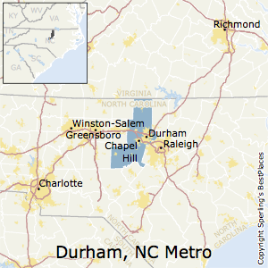 Durham-Chapel_Hill,North Carolina Metro Area Map