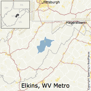 Elkins,West Virginia Metro Area Map