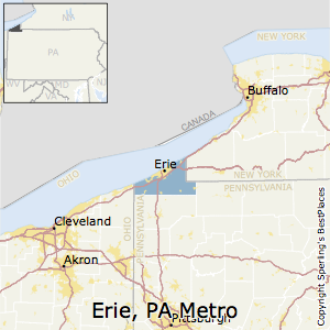 Erie,Pennsylvania Metro Area Map