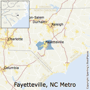 Fayetteville,North Carolina Metro Area Map