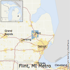 Flint,Michigan Metro Area Map