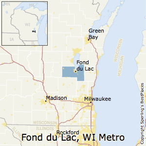 Fond_du_Lac,Wisconsin Metro Area Map