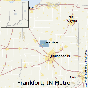 Frankfort,Indiana Metro Area Map