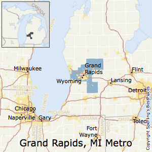 Grand_Rapids-Wyoming,Michigan Metro Area Map