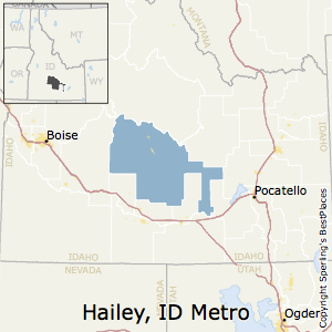 Hailey,Idaho Metro Area Map
