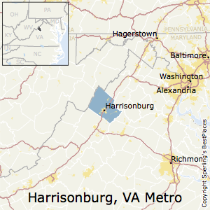 Harrisonburg,Virginia Metro Area Map