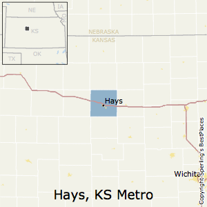 Hays,Kansas Metro Area Map