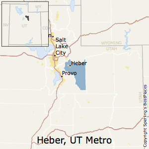 Heber,Utah Metro Area Map